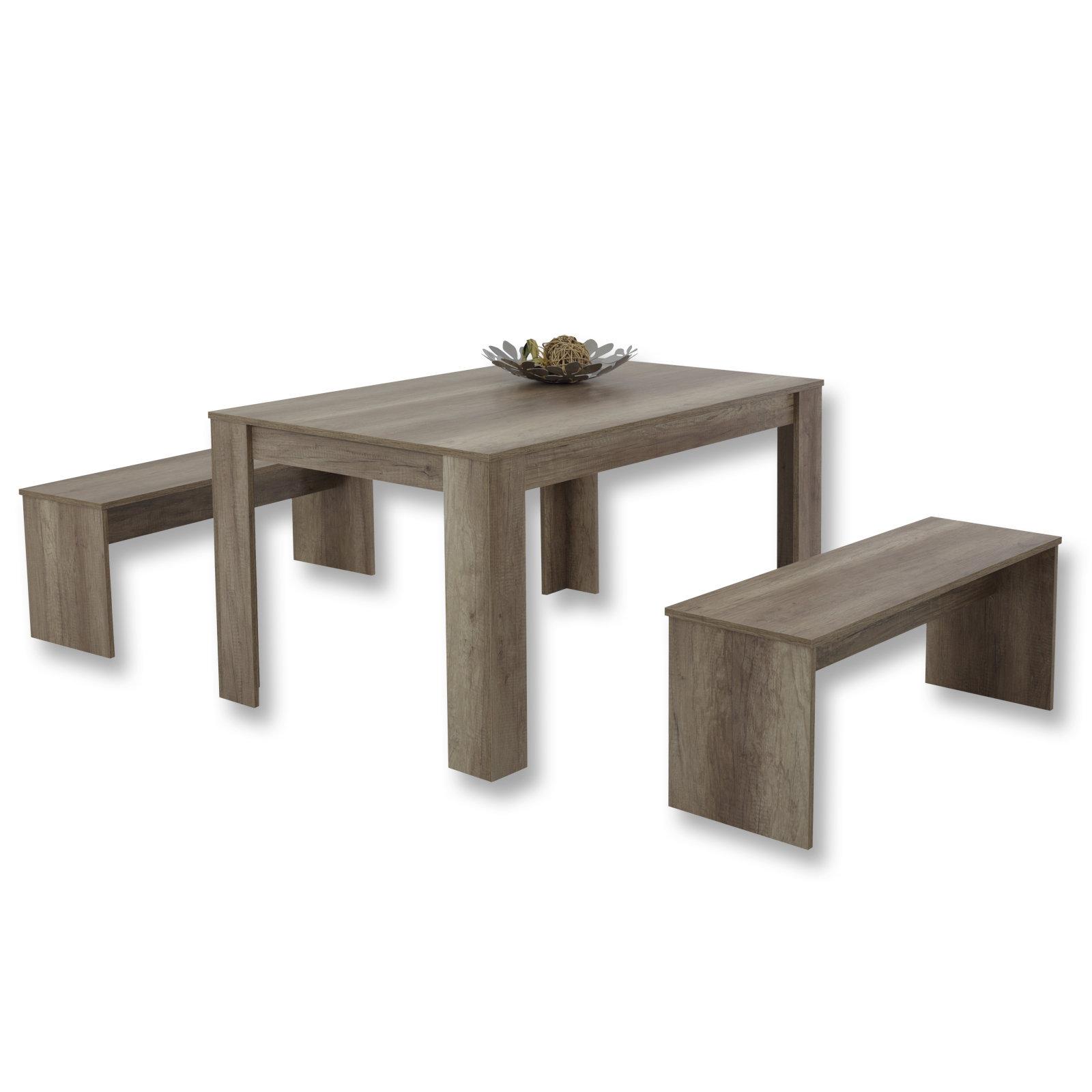 esstisch inkl 2 sitzb nke f r nur 69 99 cherry m bel. Black Bedroom Furniture Sets. Home Design Ideas