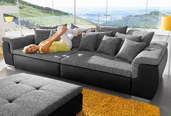 Big-Sofa XXL-Sitz- und Liegefläche