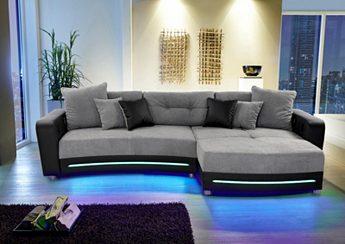Polsterecke mit LED und Soundsystem