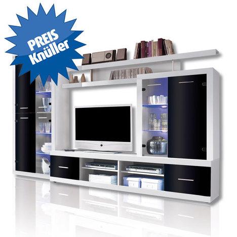 TV-Wohnwand CAN CAN 4 LUX weiß und schwarz schnäppchen