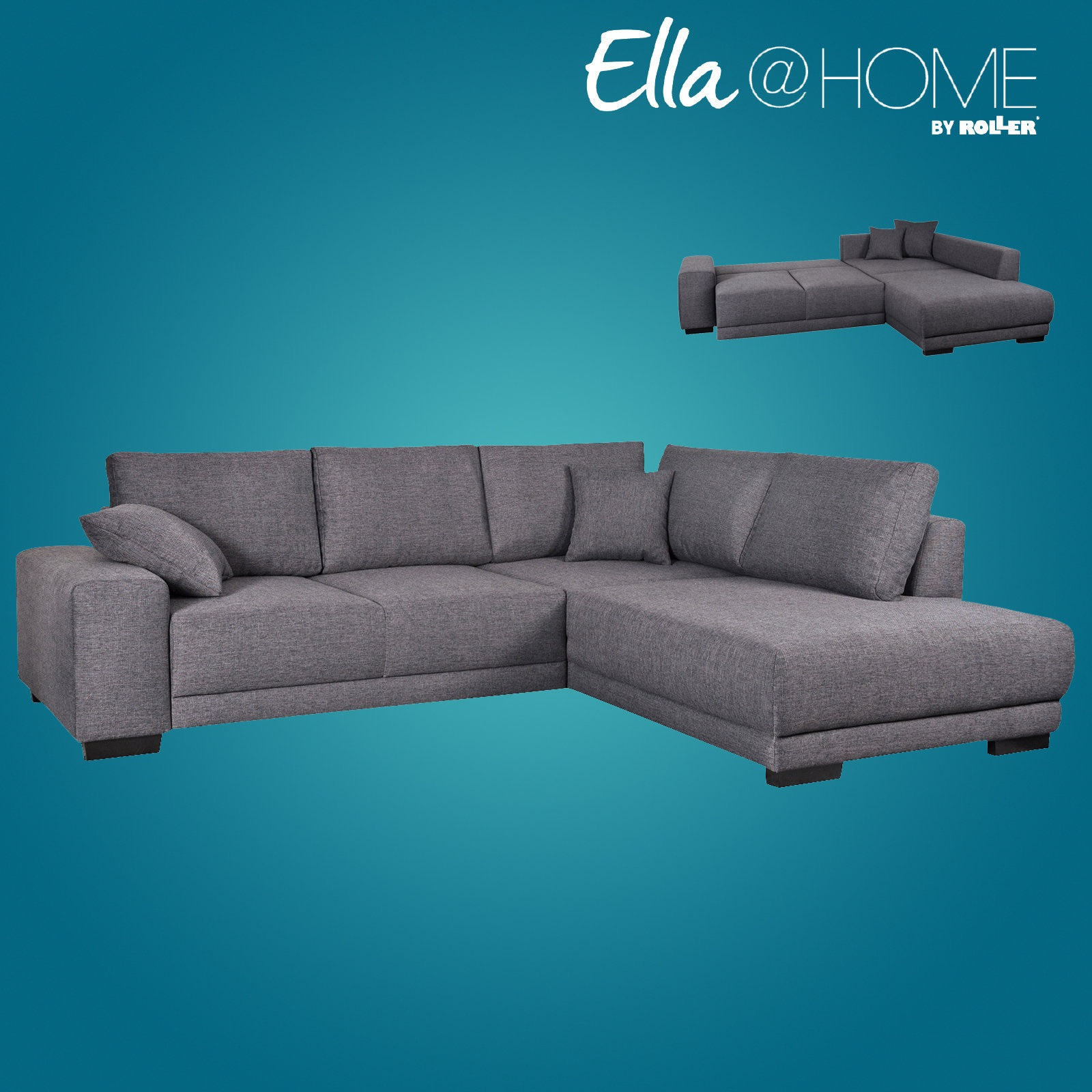 ecksofa mit liegefunktion von ella home nur 499 99 cherry m bel. Black Bedroom Furniture Sets. Home Design Ideas