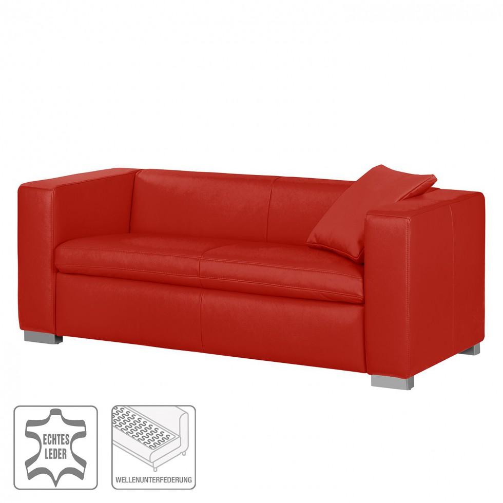 sofa bolsena 2-5-sitzer echtleder rot schnäppchen günstig designersofa