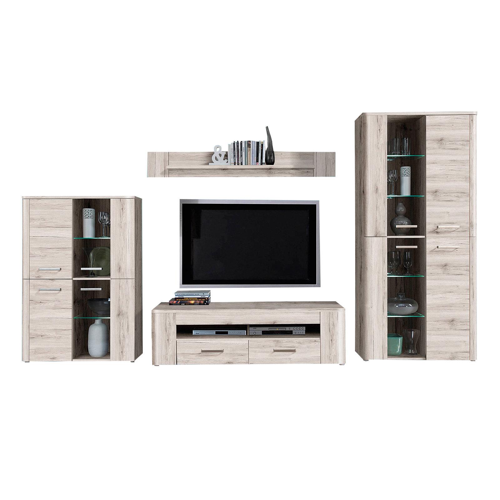 27 sparen wohnwand bailando von ella home nur 399 99. Black Bedroom Furniture Sets. Home Design Ideas