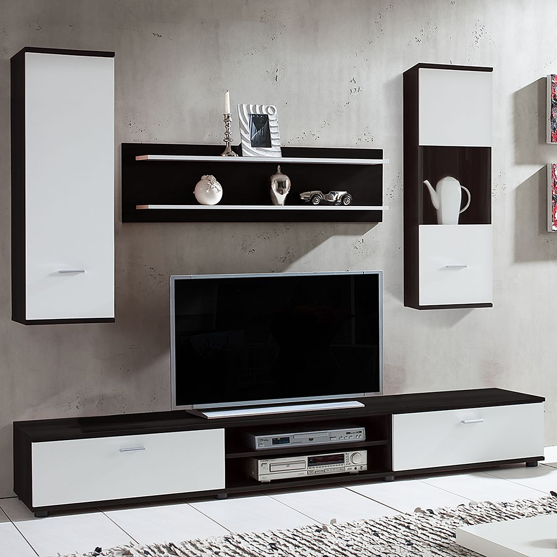 17 sparen wohnwand grinda 4 tlg nur 149 99 cherry m bel home24. Black Bedroom Furniture Sets. Home Design Ideas
