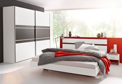 schlafzimmer set 4 teilig von rauch in wei lavagrau nur 369 99 cherry m bel quelle. Black Bedroom Furniture Sets. Home Design Ideas