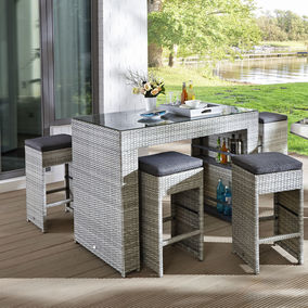 bar set summerland von hartman in grau nur 599 00 cherry m bel karstadt. Black Bedroom Furniture Sets. Home Design Ideas