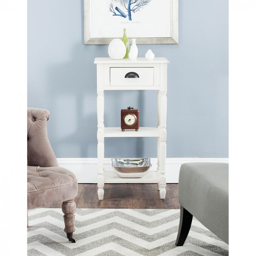 beistelltisch chucky von safavieh in weiß schnäppchen im klassischen design