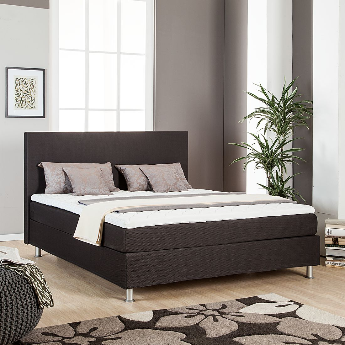 boxspringbett judith von nuovoform 180x200cm nur 599 99 cherry m bel home24. Black Bedroom Furniture Sets. Home Design Ideas