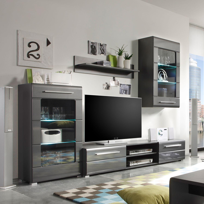 Wohnwand modern art von roomscape mit led beleuchtung   ab 349,99 ...
