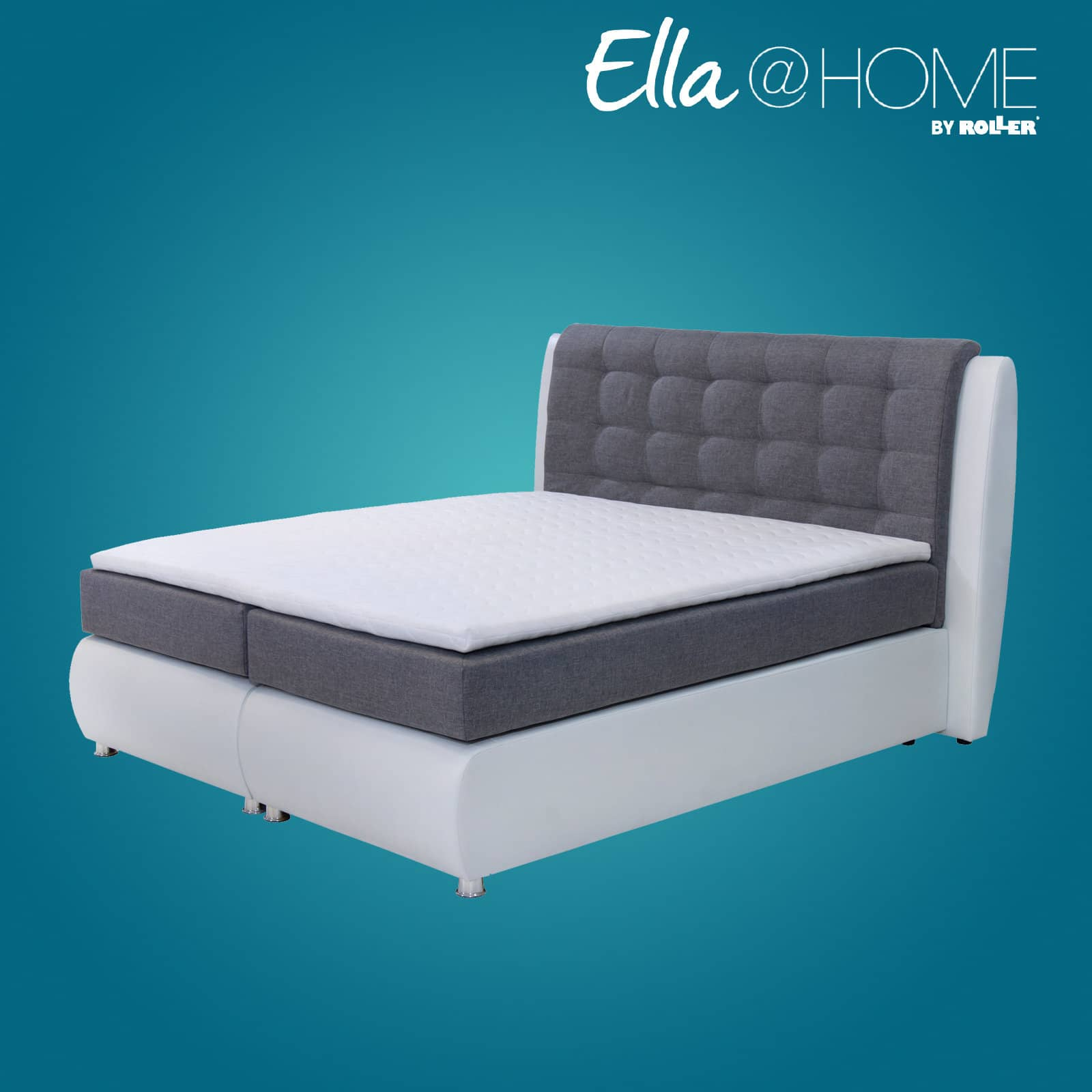 bis zu 40 sparen boxspringbett marseille von ella home. Black Bedroom Furniture Sets. Home Design Ideas
