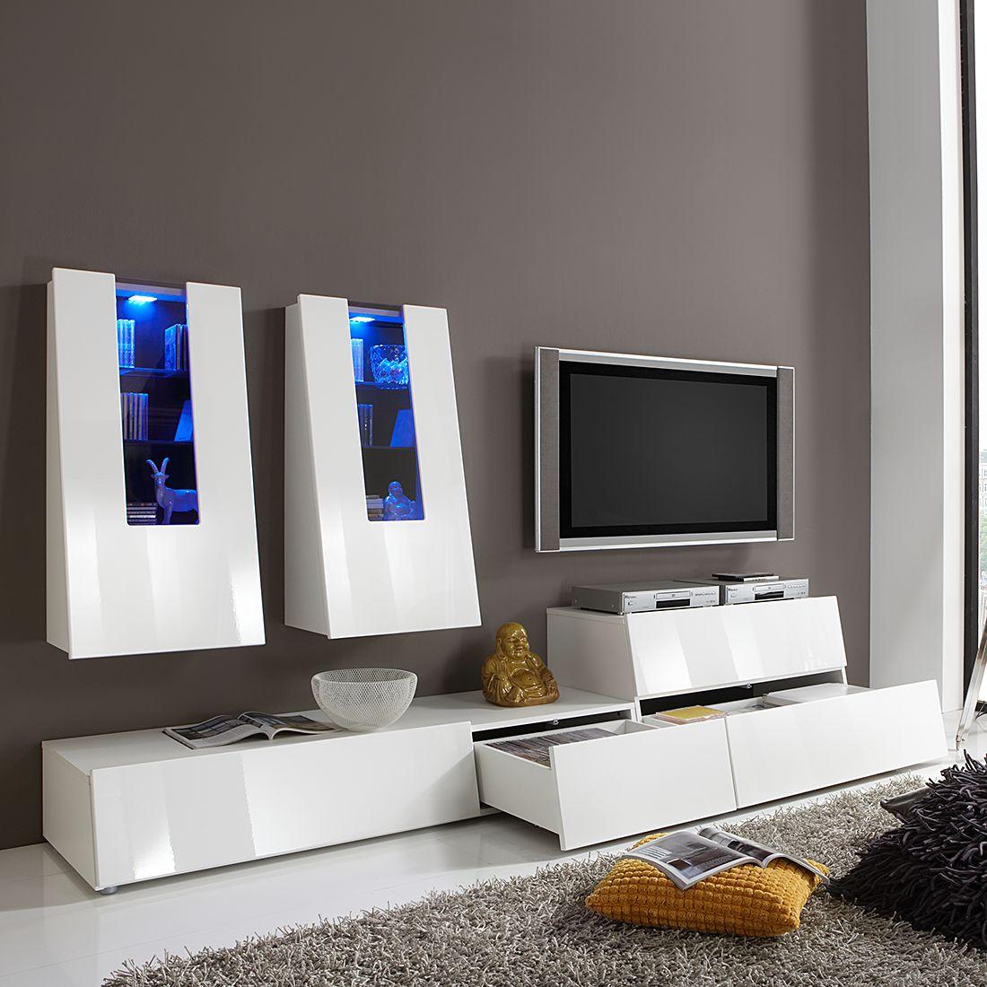 wohnwand gravity von bellinzona mit beleuchtung nur 899. Black Bedroom Furniture Sets. Home Design Ideas