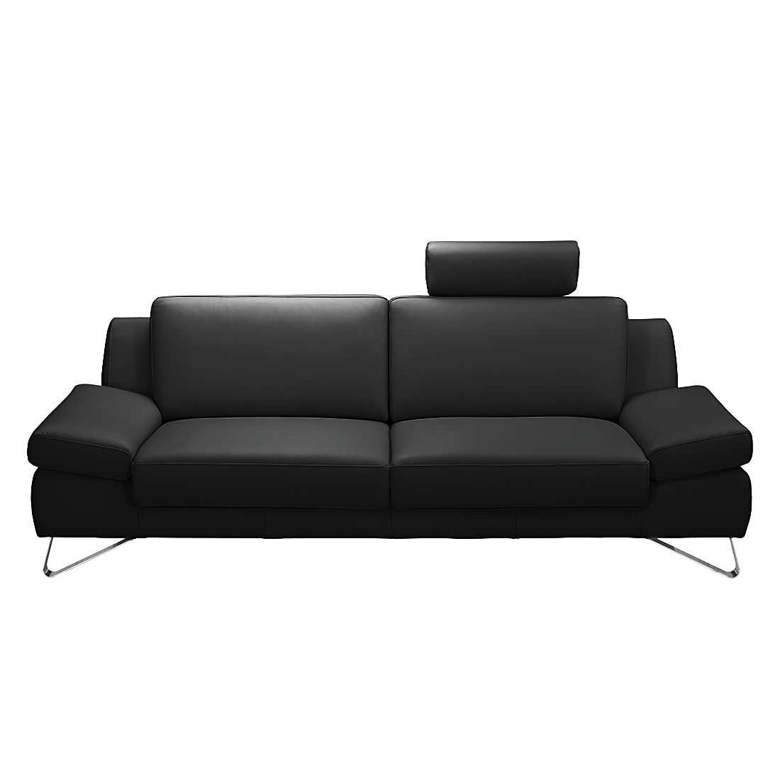 sofa silvano von loftscape in schwarz mit kopfst tze nur 899 99 cherry m bel home24. Black Bedroom Furniture Sets. Home Design Ideas
