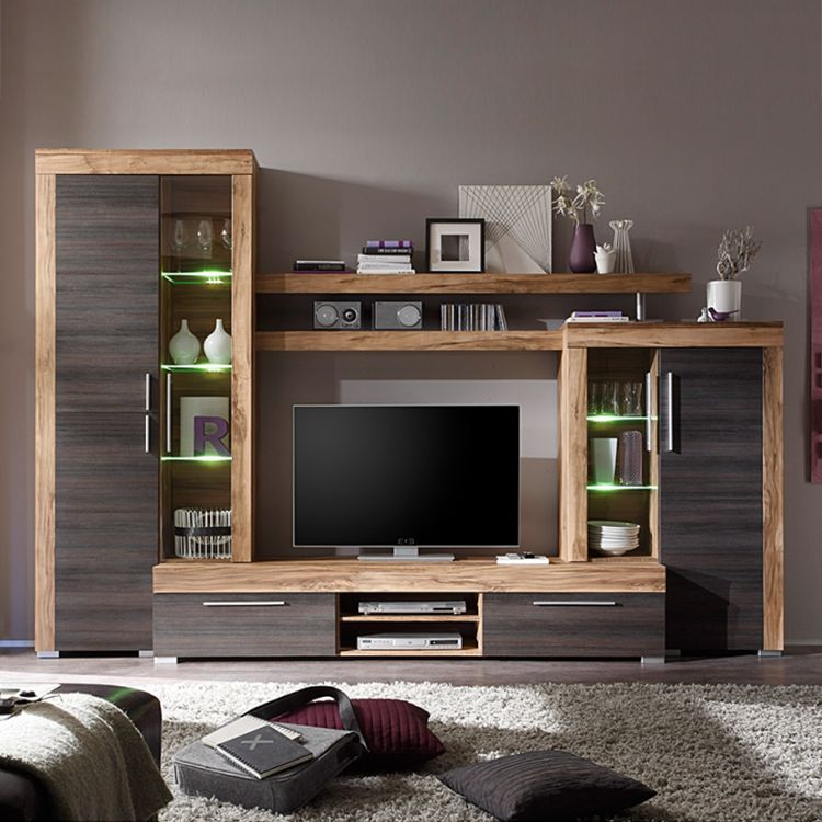 10 sparen wohnwand bang von california in walnuss braun nur 449 99 cherry m bel home24. Black Bedroom Furniture Sets. Home Design Ideas