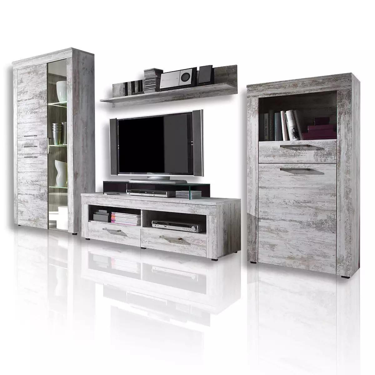 36 sparen wohnwand river von roller nur 379 99 cherry m bel roller. Black Bedroom Furniture Sets. Home Design Ideas