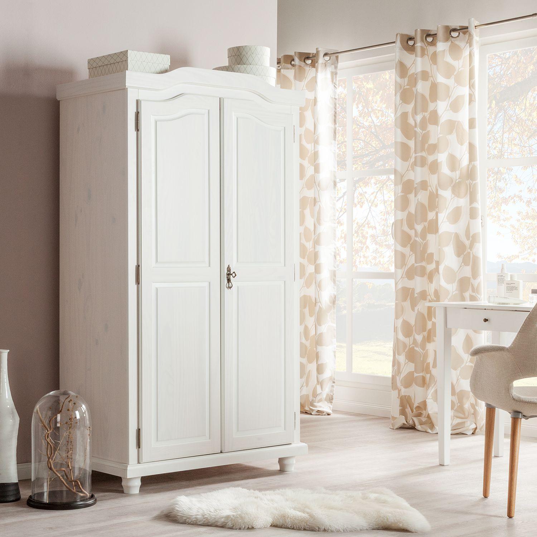 kleiderschrank-hedda-von home24 aus massiver Kiefer in weiß zum Schnäppchenpreis