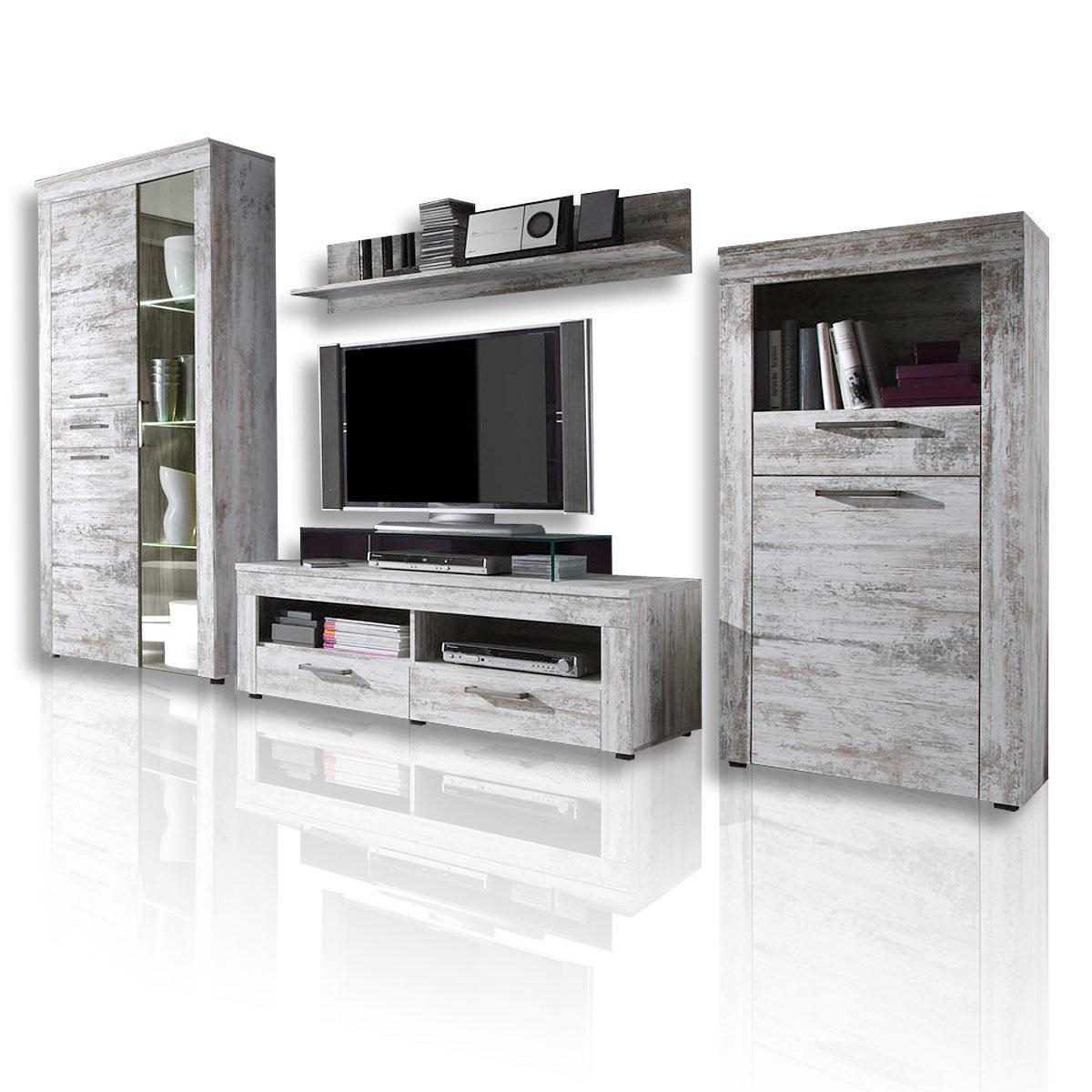 36 sparen wohnwand river von roller nur 379 99 cherry m bel. Black Bedroom Furniture Sets. Home Design Ideas