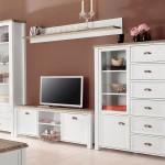 33% sparen – Wohnwand CHATEAU in weiß – nur 599,99€