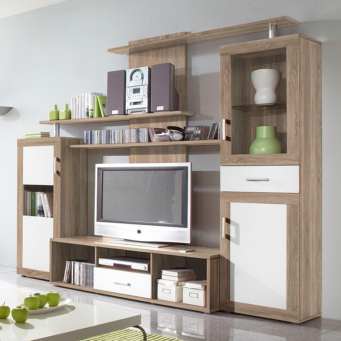 37 sparen wohnwand gesine eiche sonoma nur 279 99 cherry m bel. Black Bedroom Furniture Sets. Home Design Ideas