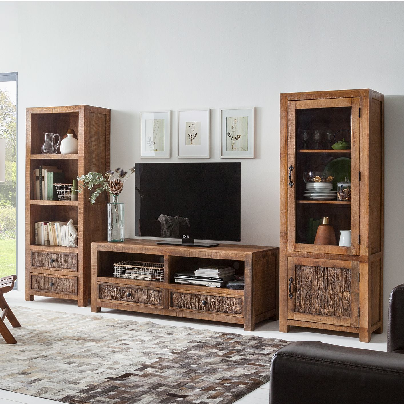 20 sparen wohnwand sternew 3 teilig nur cherry m bel home24. Black Bedroom Furniture Sets. Home Design Ideas
