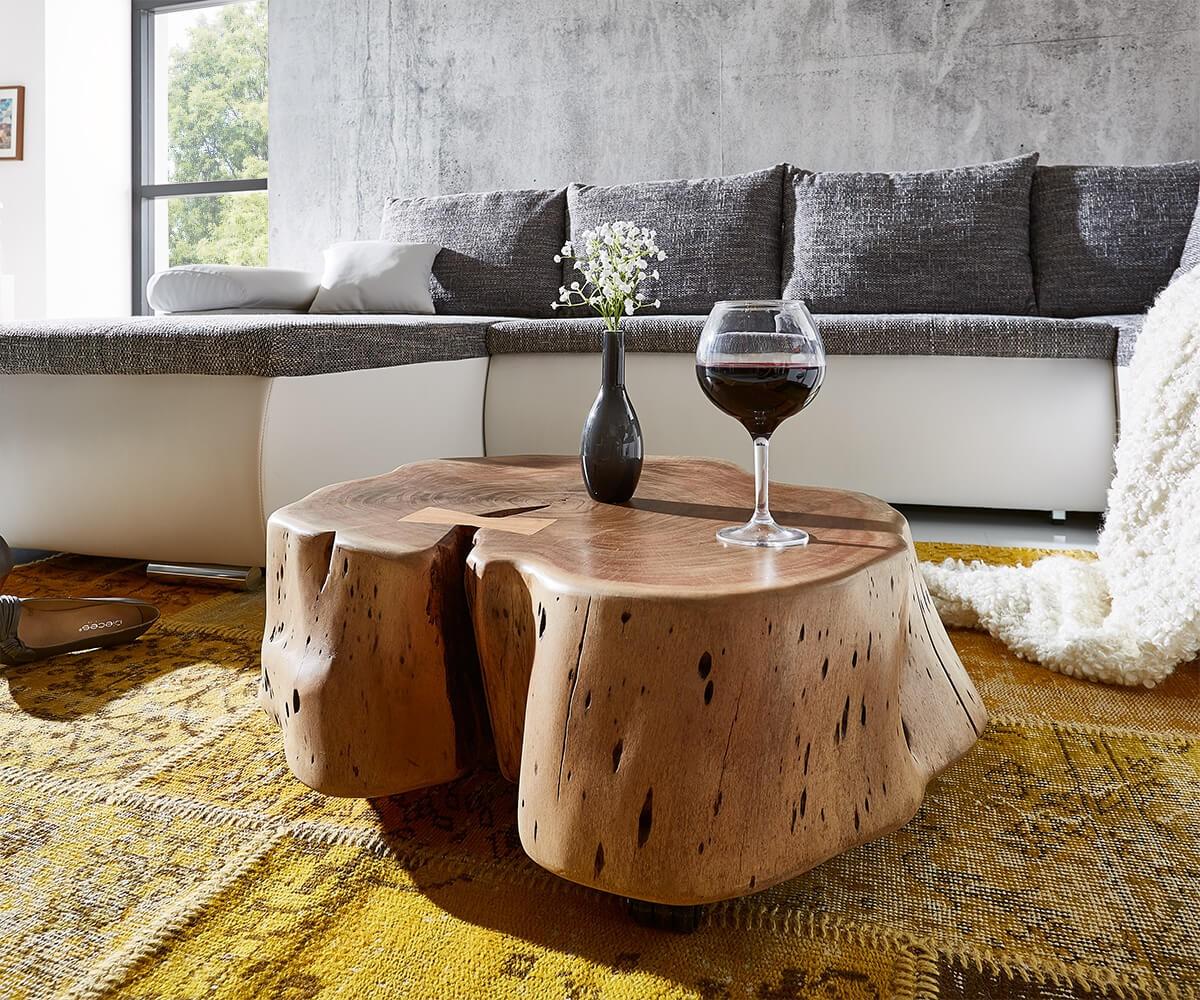 30 sparen couchtisch live edge von delife mit rollen nur 489 cherry m bel delife. Black Bedroom Furniture Sets. Home Design Ideas