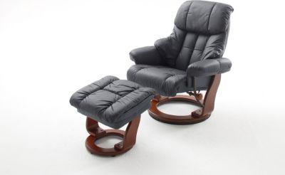 mca relaxsessel calgary zum schnäppchenpreis in schwarz / walnuss
