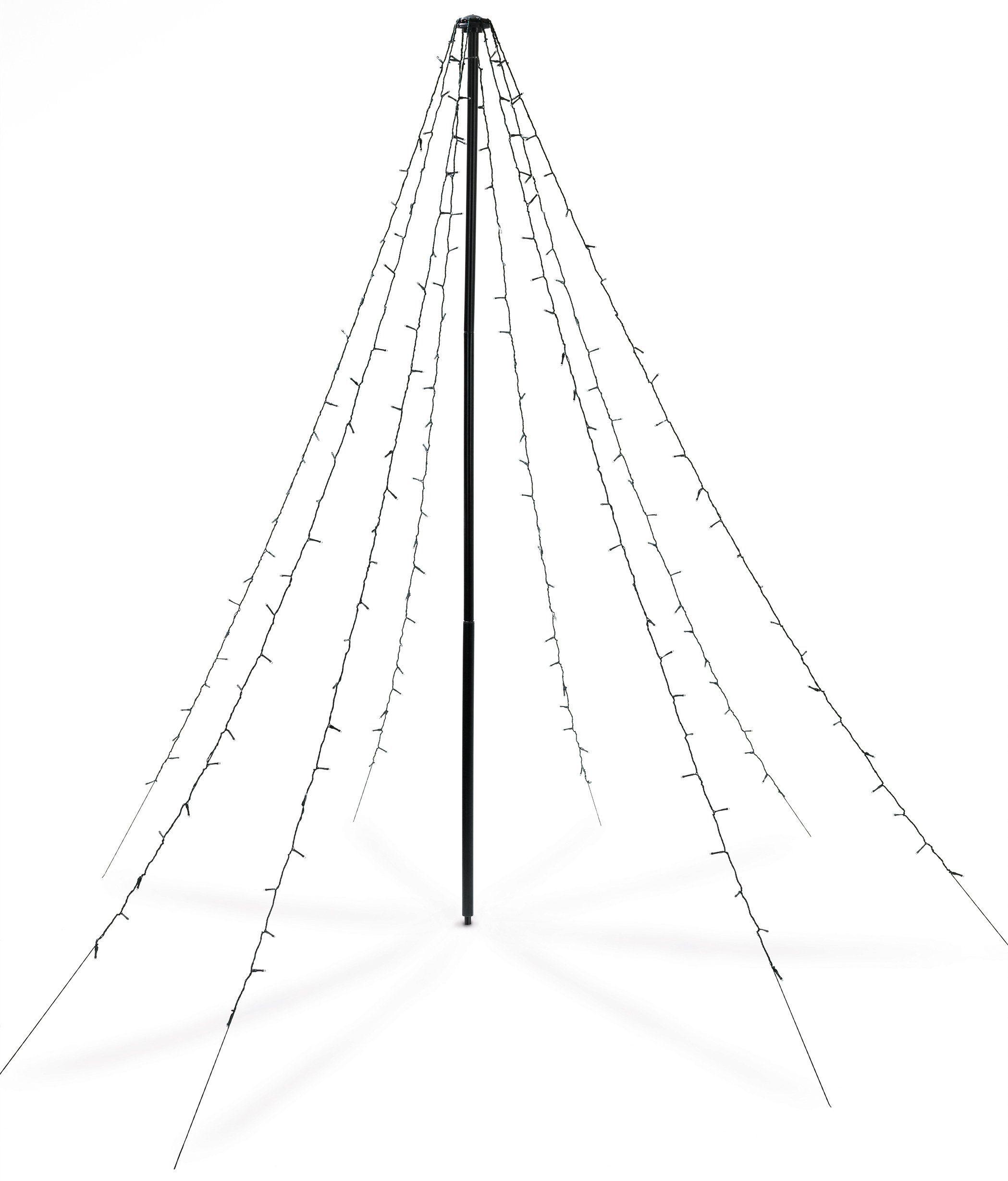christmaxx lef-lichtpyramide 2 meter hoch zum schnäppchenpreis