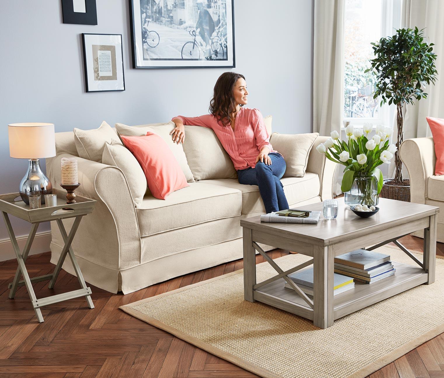 sofa cremefarben von tchibo inkl kissen nur 699 cherry m bel tchibo. Black Bedroom Furniture Sets. Home Design Ideas