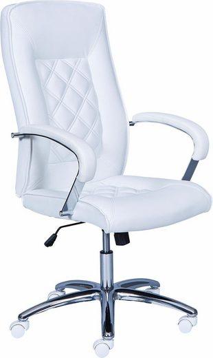 Bürostuhl ALESSIA in der Farbe weiß / chrom nur 209,99€
