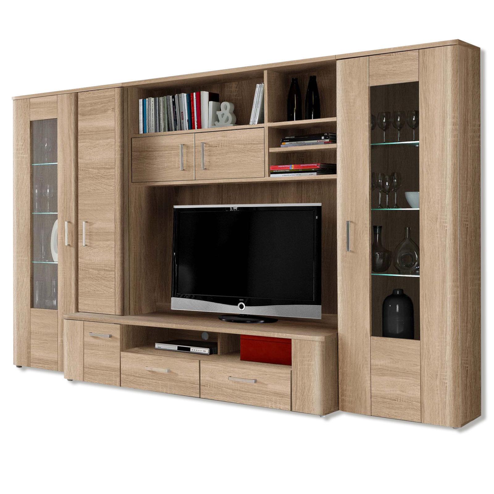 21 sparen wohnwand belmondo inkl beleuchtung nur 549 99 cherry m bel. Black Bedroom Furniture Sets. Home Design Ideas