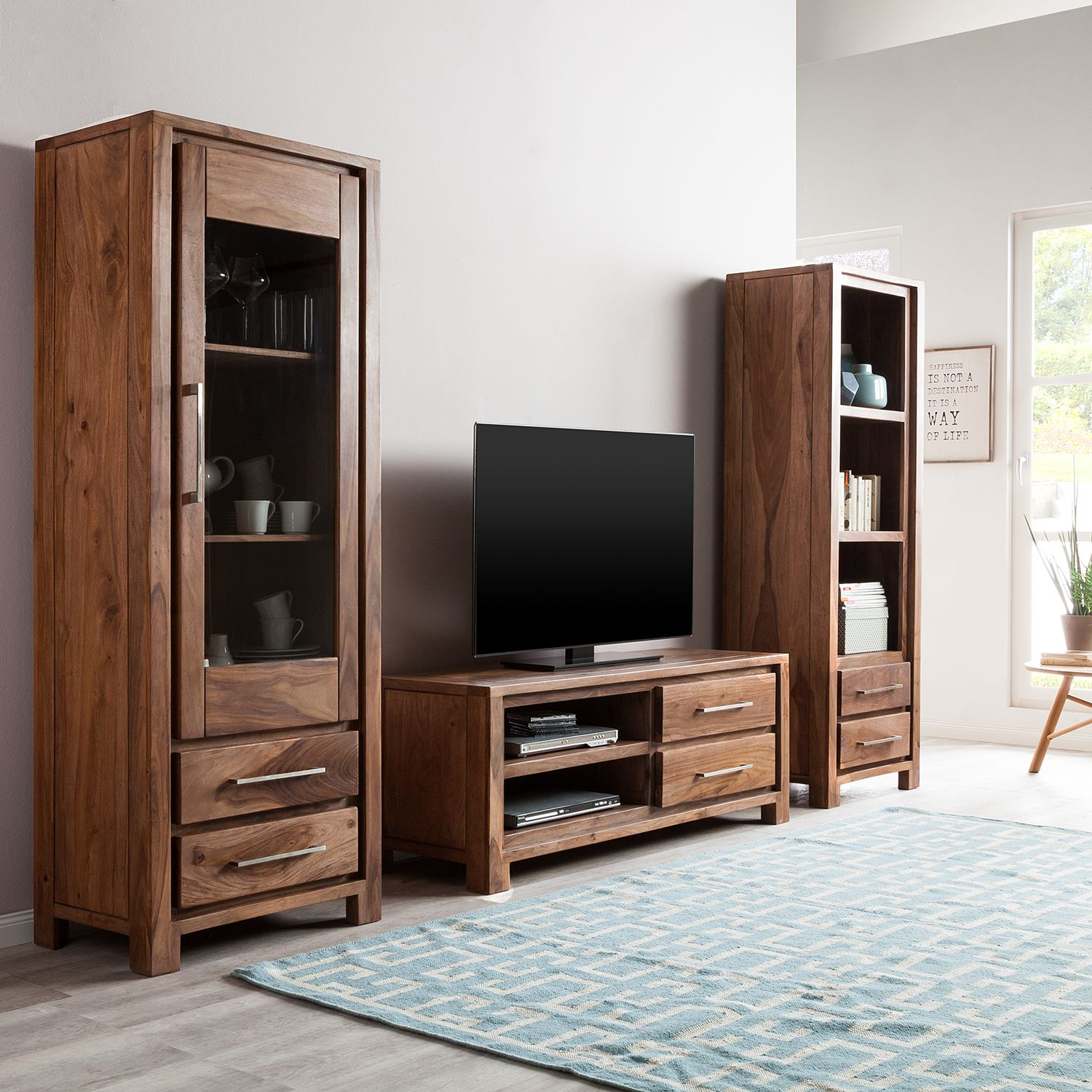 41 sparen wohnwand jambi von ars manufacti nur cherry m bel home24. Black Bedroom Furniture Sets. Home Design Ideas