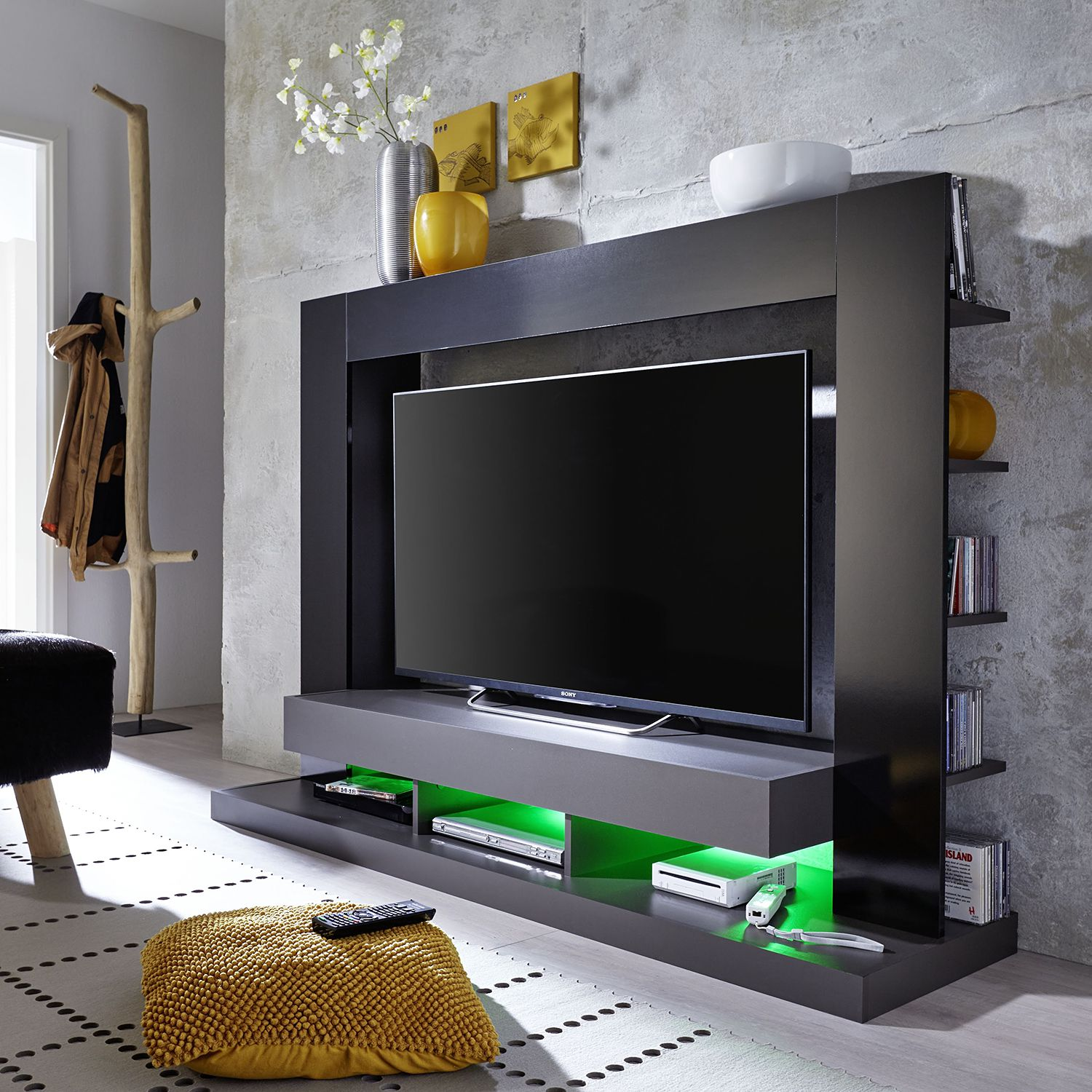 24 sparen tv wand yoder ii von trendteam 189 99 cherry m bel home24. Black Bedroom Furniture Sets. Home Design Ideas