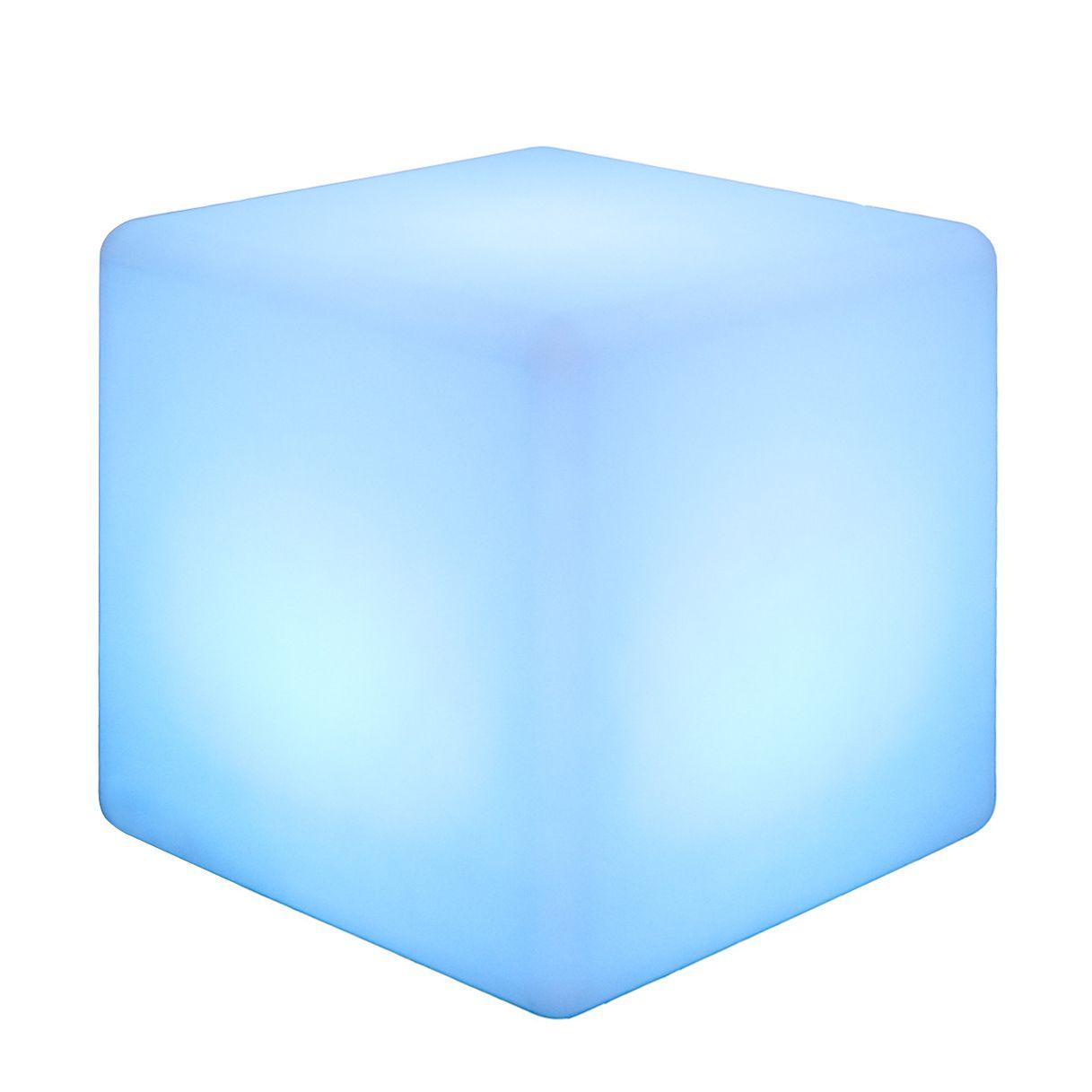 Hocker FIREFLY von FURNITIVE mit Beleuchtung - blau