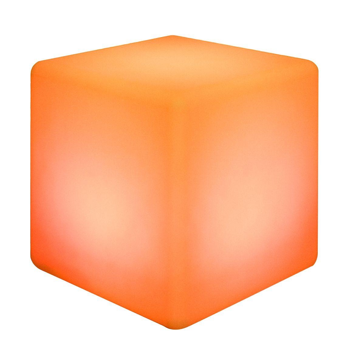 Hocker FIREFLY von FURNITIVE mit Beleuchtung - orange