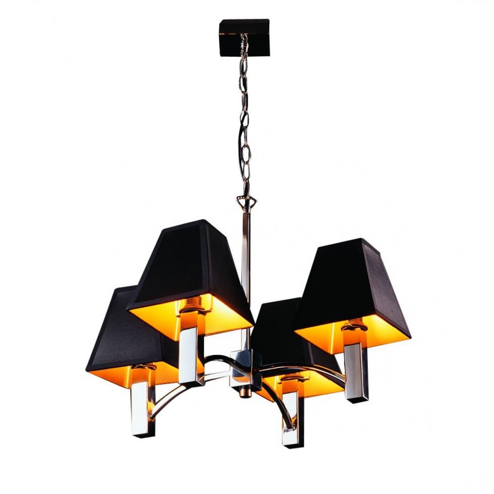 kronleuchter pavo von lampadina in schwarz-gold zum schnäppchenpreis