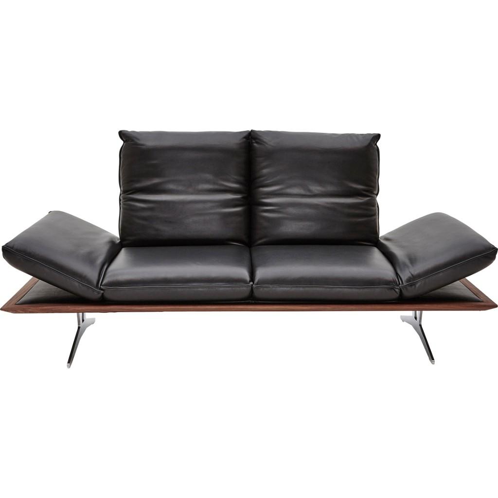 sofa von dieter knoll anilinleder schwarz zum schnäppchenpreis