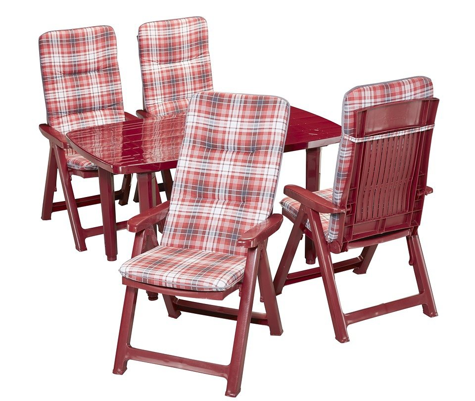 9 sparen gartenm bel set kopenhagen in rot nur 209 99 cherry m bel otto. Black Bedroom Furniture Sets. Home Design Ideas