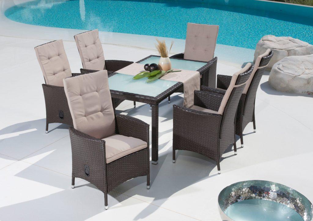 33% sparen - Gartenmöbel-Set MADEIRA (13-teilig) - nur 399 ...