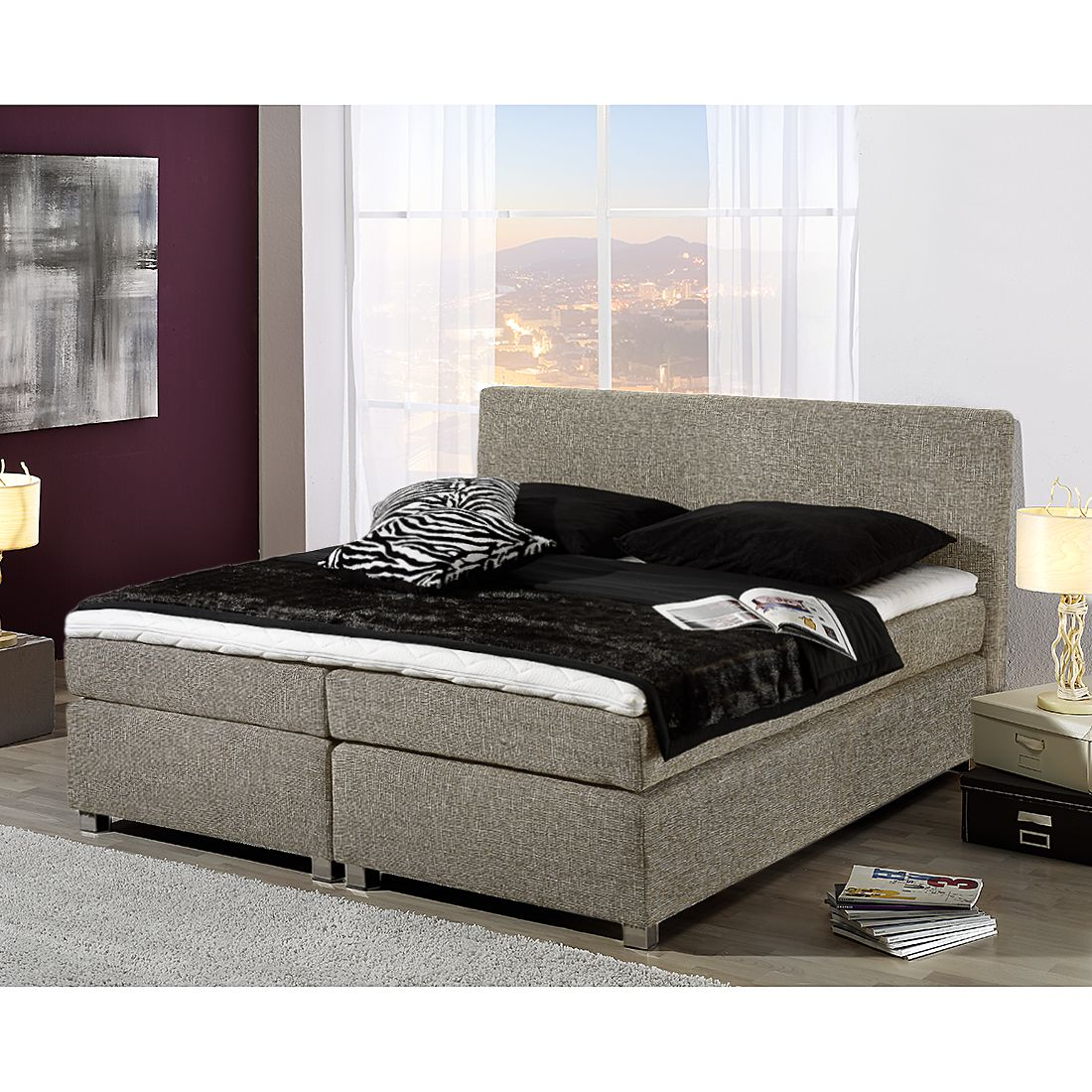 33 sparen boxspringbett sage ab 499 99 cherry m bel home24. Black Bedroom Furniture Sets. Home Design Ideas