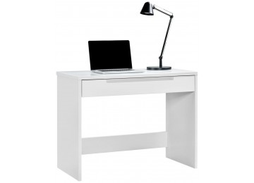 Schreibtisch MAILAND weiß Hochglanz