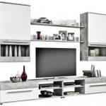 10% sparen – Wohnwand FARGO 2 Beton-Optik/Weiß – nur 179,99€