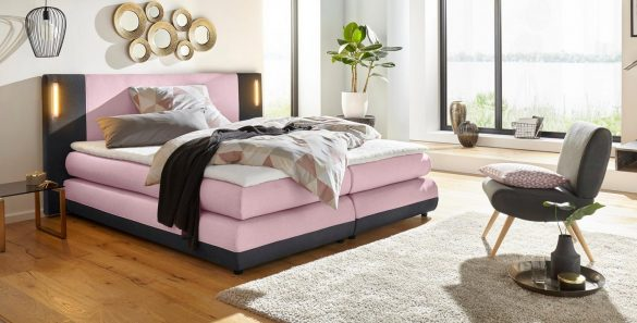 COLLECTION AB Boxspringbett ABANO, inkl. LED-Beleuchtung und Topper