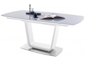 Esstisch XANDER Hochglanz weiß/ grau ca. 180 cm