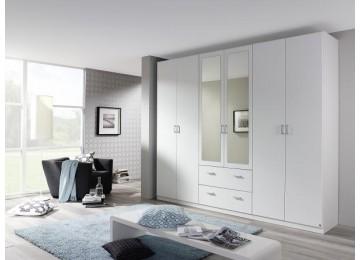 Kleiderschrank INGOLSTADT Weiß, 270 cm
