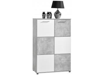 Kommode ZERO Beton-Optik/weiß ca. 78 cm
