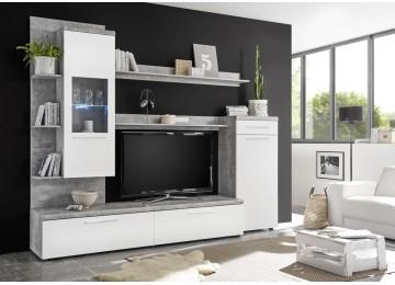 20 sparen wohnwand delius beton optik wei nur 279 99 cherry m bel poco. Black Bedroom Furniture Sets. Home Design Ideas