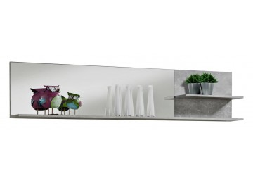 Spiegelpaneel NEAPEL Beton Optik/ HGL weiß 179 cm