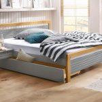 20% sparen – HOME AFFAIRE Bett CAPRE – 160×200 cm / grau-eichefarben – nur 199,99€