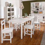 50% sparen – HOME AFFAIRE Essgruppenset INDRA – Tisch 160 cm breit (7 tlg.) – nur 369,00€