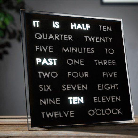 LED Word Clocks mit Schrift