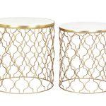 Top Angebot – Marmor-Beistelltisch -Set BLAKE von ANDERSON – nur 219€
